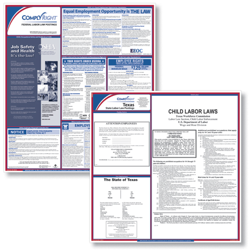 Federal & State Compliance Poster Kit - ENGLISH