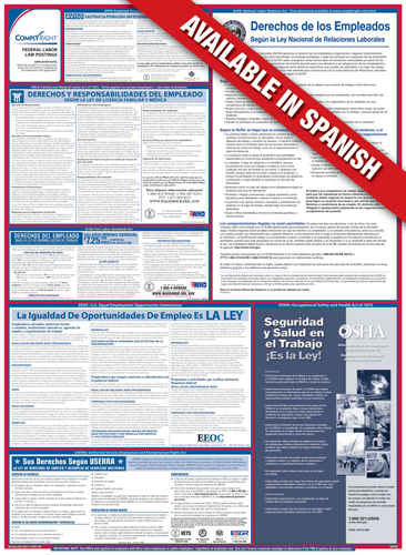 Federal Labor Law Compliance Poster - SPANISH