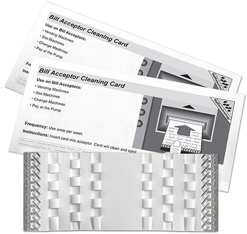 Bill Acceptor Cleaning Card