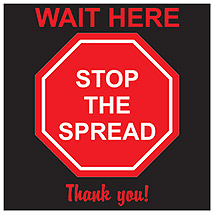 "Stop The Spread Square 11"" Decal"