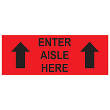 "Enter Aisle Here 16"" x 6"" Decal"