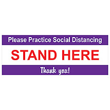 "Please Practice Social Distancing 16"" x 6"" Decal"