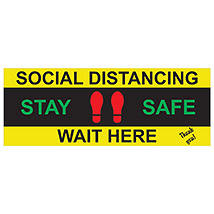 "Stay Safe 16"" x 6"" Decal"