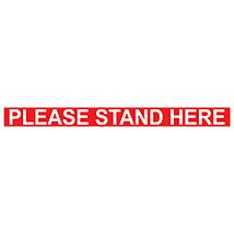 "Please Stand Here 36"" x 3"" Decal"