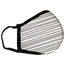 Gray Stripes - Large Face Mask